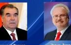 Президент Республики Таджикистан Эмомали Рахмон направил поздравительную телеграмму новоизбранному Президенту Латвии