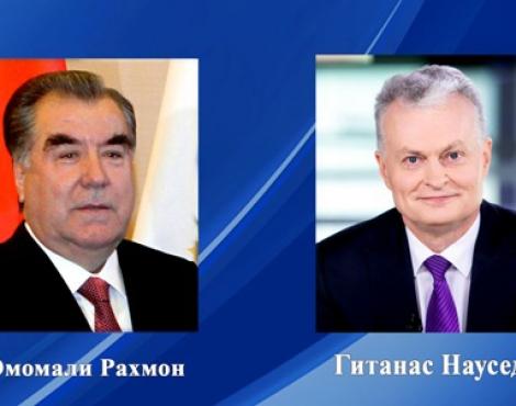 Президент Республики Таджикистан Эмомали Рахмон направил поздравительную телеграмму избранному Президенту Литовской Республики