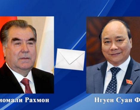 Президент Республики Таджикистан направил телеграмму избранному Президенту Социалистической Республики Вьетнам