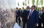Глава государства ознакомился с местом строительства современного комплекса «Истиклол ва Озоди»