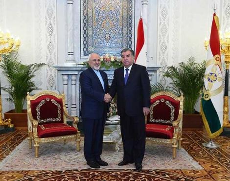 Глава государства Эмомали Рахмон провел встречу с главой МИД Исламской Республики Иран Мухаммадом Джаводом Зарифом