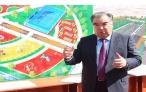 Ознакомление Лидера нации Эмомали Рахмона с ходом работ по благоустройству и реконструкции Парка культуры и отдыха «Дружбы народов»