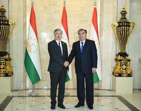 Президент Республики Таджикистан Эмомали Рахмон встретился с Генеральным секретарём ОЭС Халилом Иброхимом Акчой