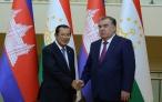 Лидер нации Эмомали Рахмон принял Премьер-министра Королевства Камбоджа Хун Сена