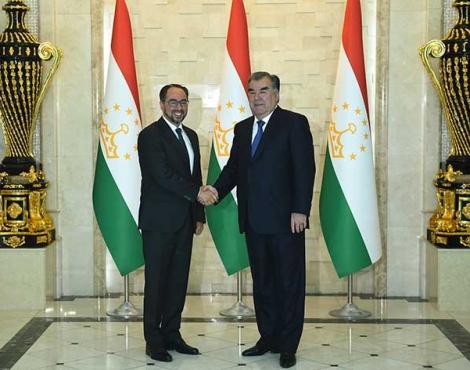 Встреча Лидера нации Эмомали Рахмона с Министром иностранных дел Исламской Республики Афганистан Салохиддином Раббони