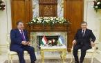 Встреча Лидера нации Эмомали Рахмона с Президентом Республики Узбекистан Шавкатом Мирзиёевым
