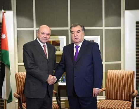 Встреча Лидера нации Эмомали Рахмона с Председателем Сената Парламента Хашимитского Королевства Иордании Фейсалом Окифом аль-Файезом